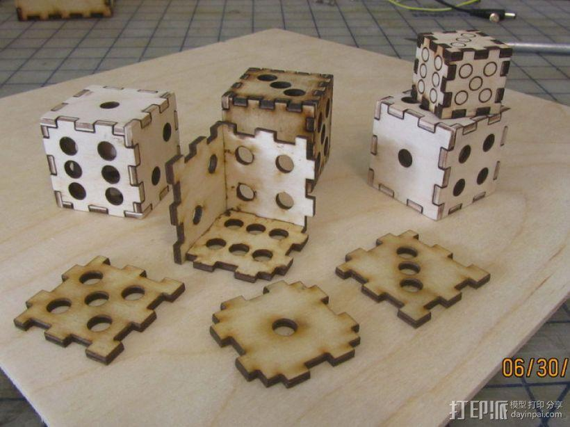 激光切割的镂空骰子 3D模型  图2