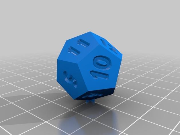 十二面体骰子 3D模型  图1