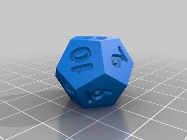 十二面体骰子 3D模型  图5