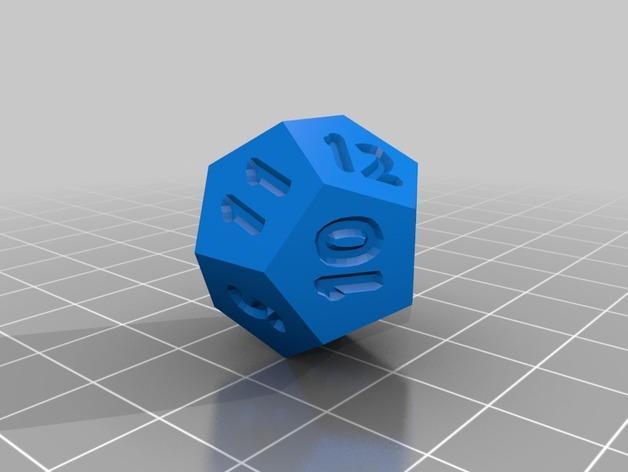 十二面体骰子 3D模型  图4
