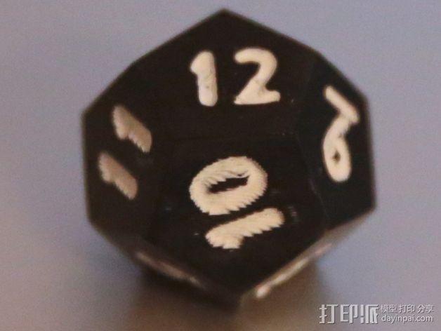 十二面体骰子 3D模型  图6