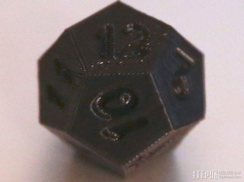 十二面体骰子 3D模型  图7