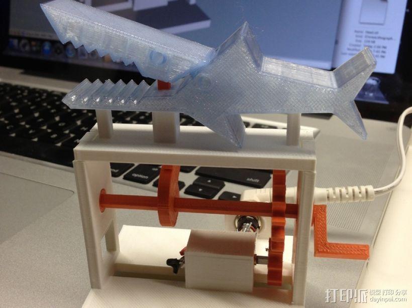 鲨鱼形发动机模型 3D模型  图1