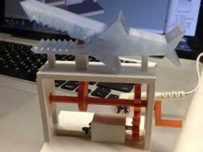 鲨鱼形发动机模型 3D模型