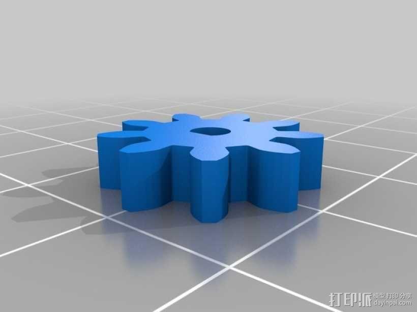 鲨鱼形发动机模型 3D模型  图4