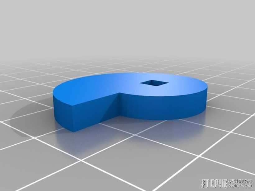 鲨鱼形发动机模型 3D模型  图3
