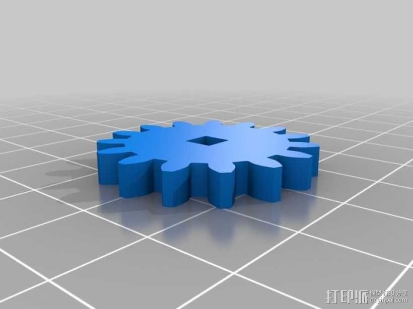 鲨鱼形发动机模型 3D模型  图7