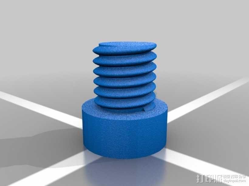 螺母和空心螺丝 3D模型  图3