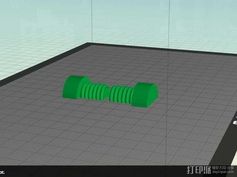 螺母和空心螺丝 3D模型  图4