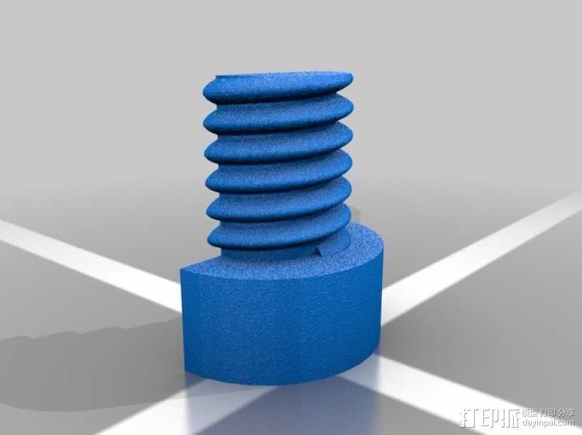 螺母和空心螺丝 3D模型  图6