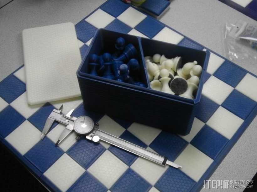 斯汤顿象棋棋子盒 3D模型  图1