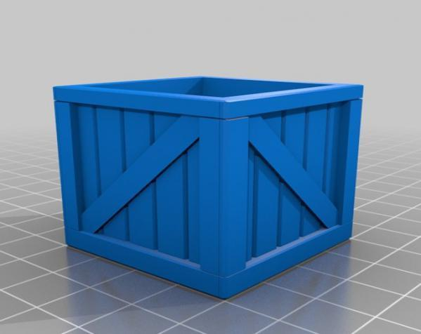 空心玩具板条箱 3D模型  图1