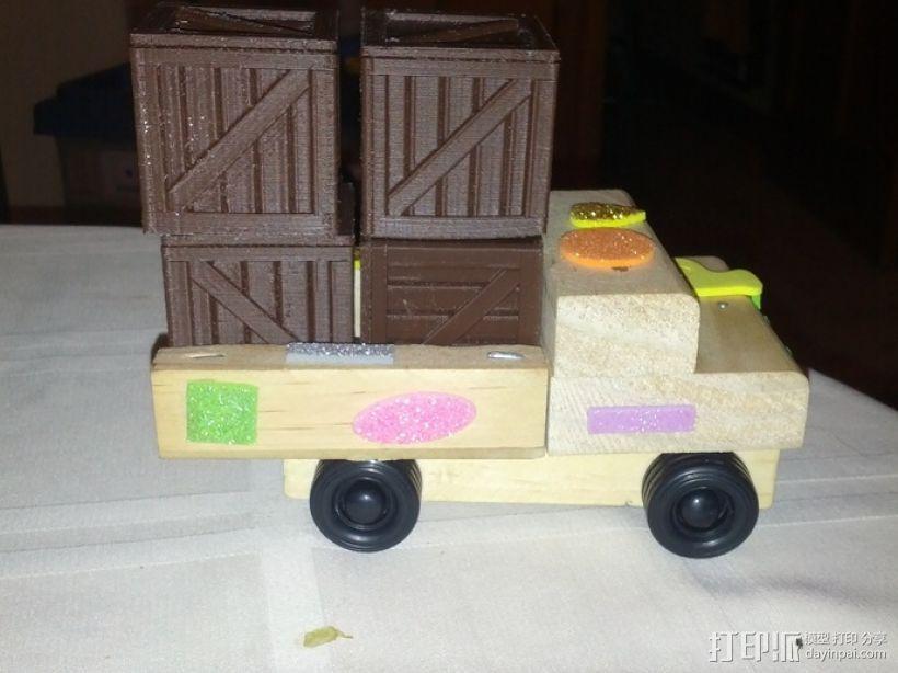 空心玩具板条箱 3D模型  图4
