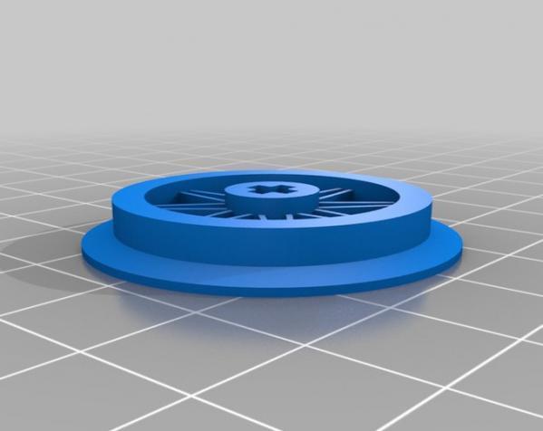 1:32乐高玩具火车车轮 3D模型  图1