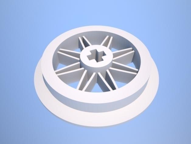 1:32乐高玩具火车车轮 3D模型  图2