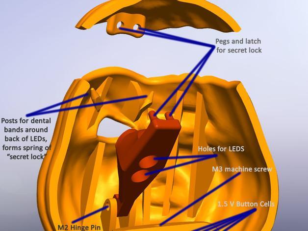 空心南瓜灯2 3D模型  图5