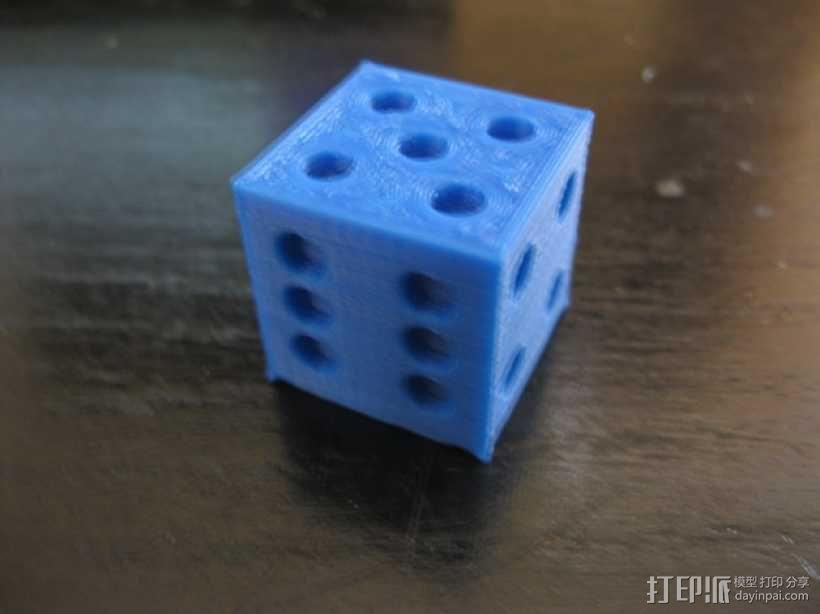 六面骰子 3D模型  图1