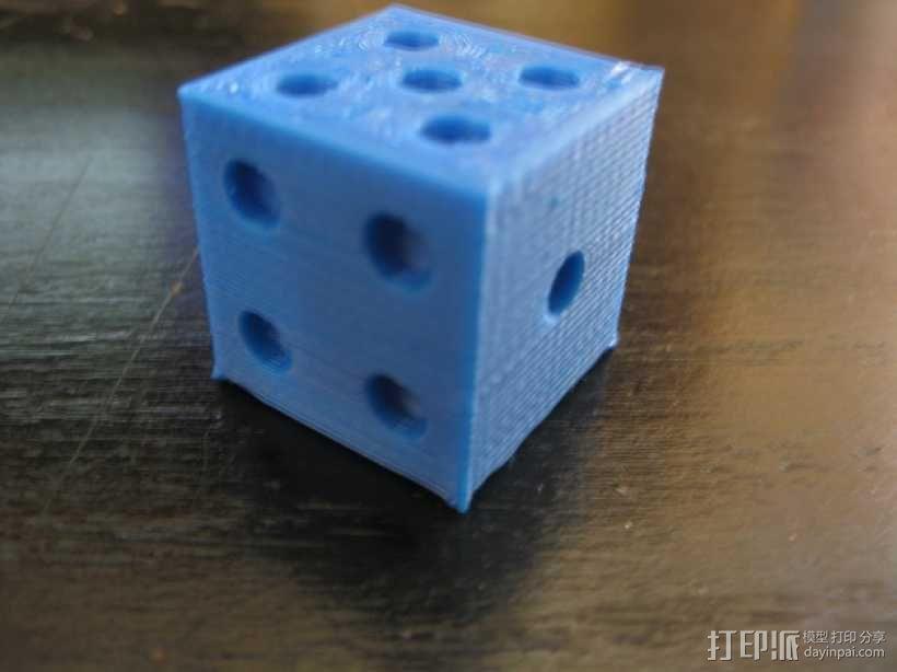 六面骰子 3D模型  图3