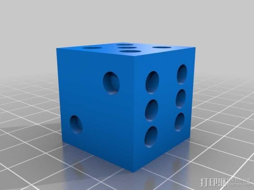 六面骰子 3D模型  图2