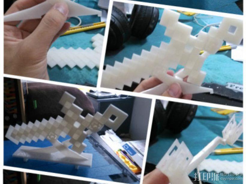 MineCraft:钻石剑 3D模型  图2
