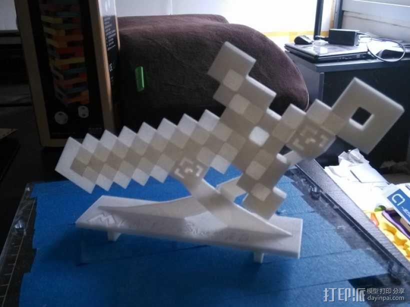 MineCraft:钻石剑 3D模型  图3