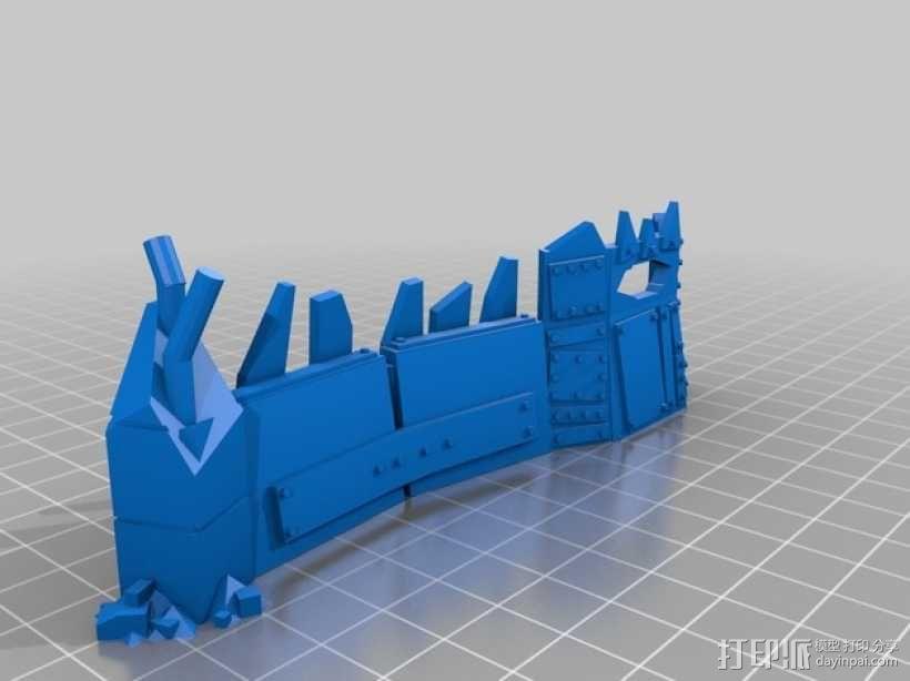 战争游戏的垃圾场障碍物 3D模型  图2