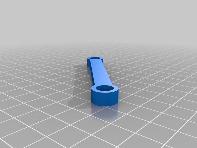 90度直线型联动装置 3D模型  图4
