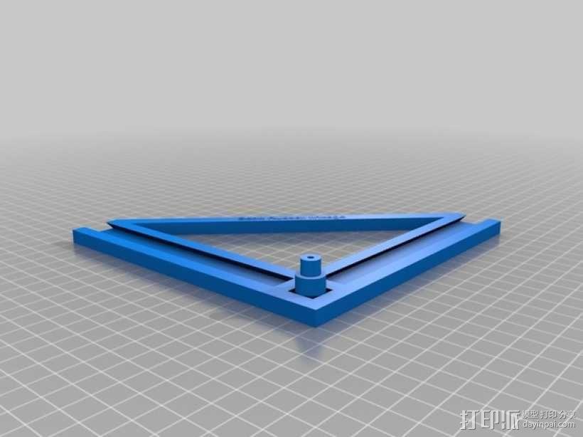 90度直线型联动装置 3D模型  图7