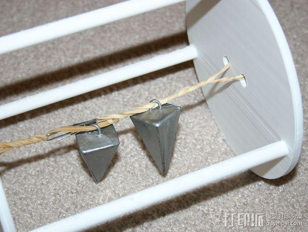 两轮橡皮筋驱动工具 3D模型  图3