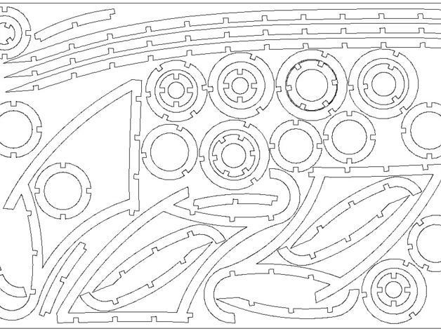 镂空的太空火箭拼图 3D模型  图7