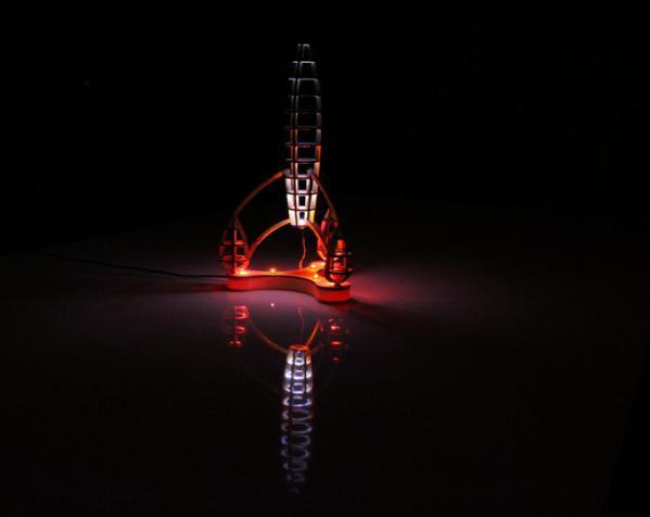 镂空的太空火箭拼图 3D模型  图13