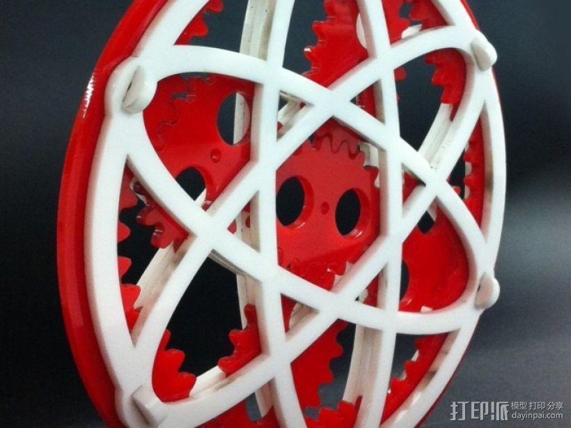 椭圆行星齿轮 3D模型  图1