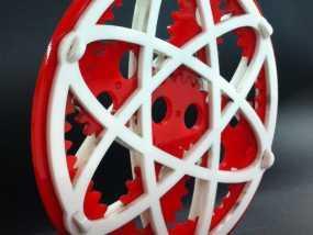 椭圆行星齿轮 3D模型