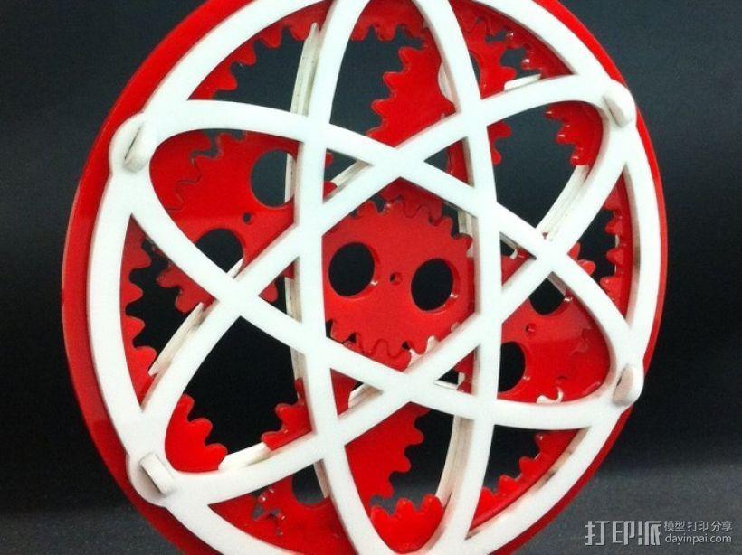 椭圆行星齿轮 3D模型  图3