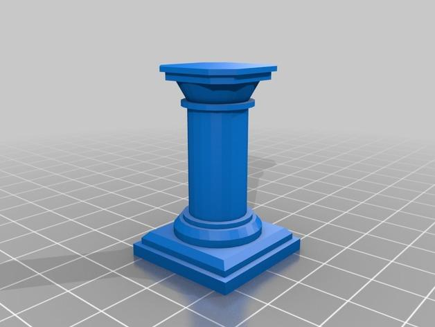 OpenForge柱子 3D模型  图4