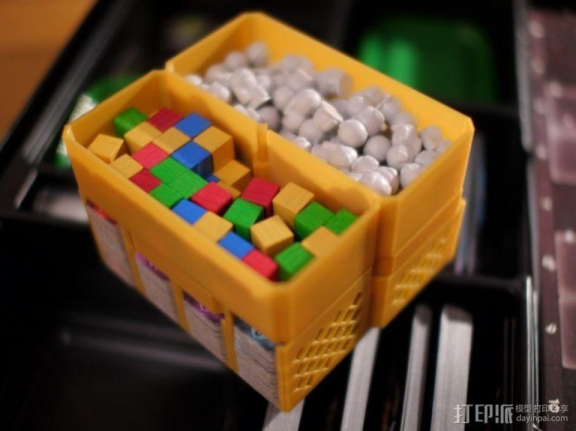 银河卡车:游戏筹码盒 3D模型  图1