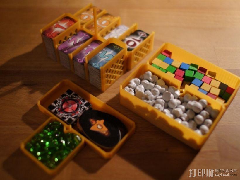 银河卡车:游戏筹码盒 3D模型  图2
