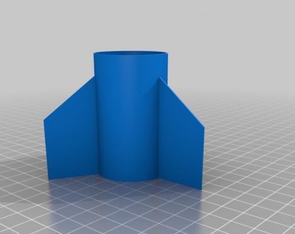 火箭弹的舵和头锥部分 3D模型  图2