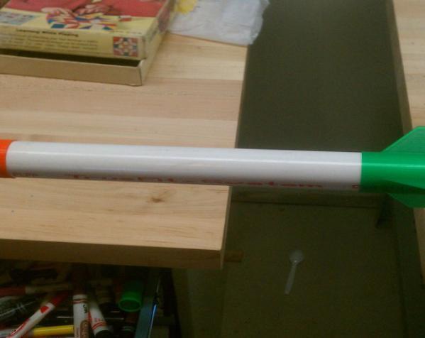 火箭弹的舵和头锥部分 3D模型  图4