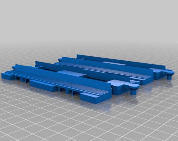 得宝直线型火车车轨 3D模型  图2