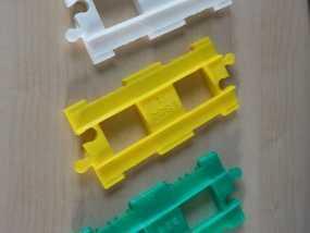得宝直线型火车车轨 3D模型