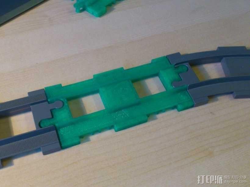 得宝直线型火车车轨 3D模型  图3