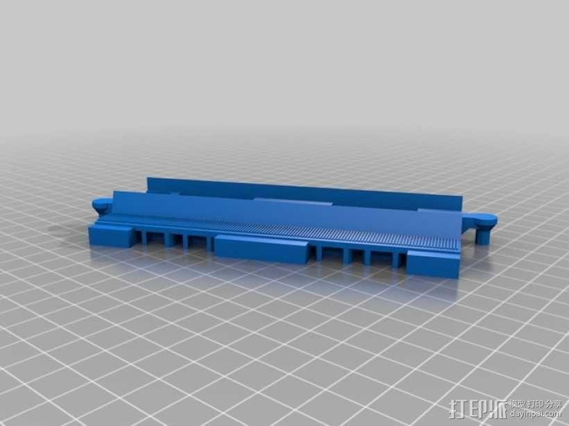 得宝直线型火车车轨 3D模型  图4