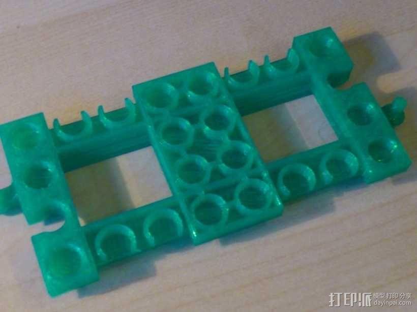 得宝直线型火车车轨 3D模型  图5
