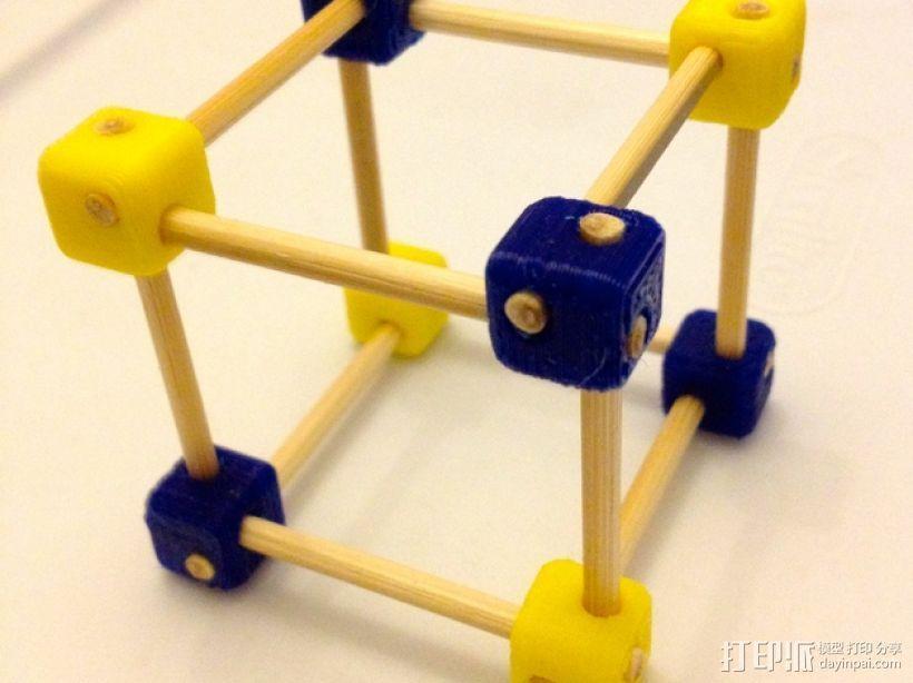 牙签制作的立方体套件 3D模型  图1