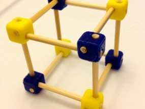 牙签制作的立方体套件 3D模型