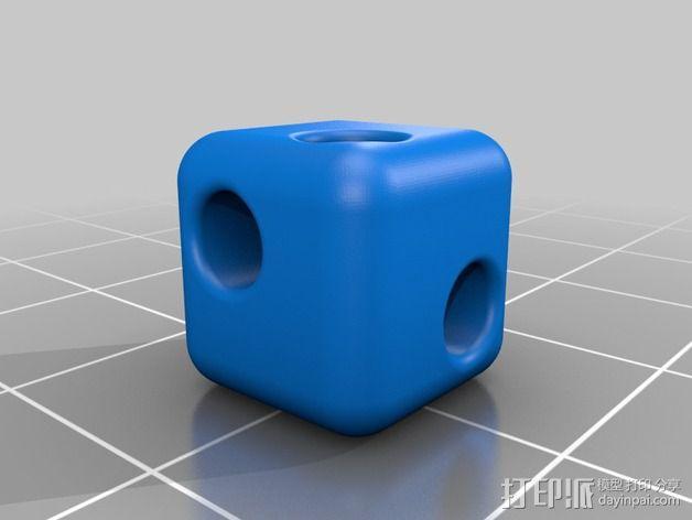 牙签制作的立方体套件 3D模型  图2
