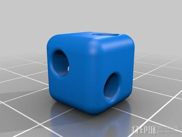 牙签制作的立方体套件 3D模型  图3