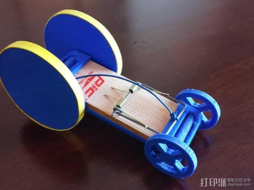 捕鼠器形赛车 3D模型  图1