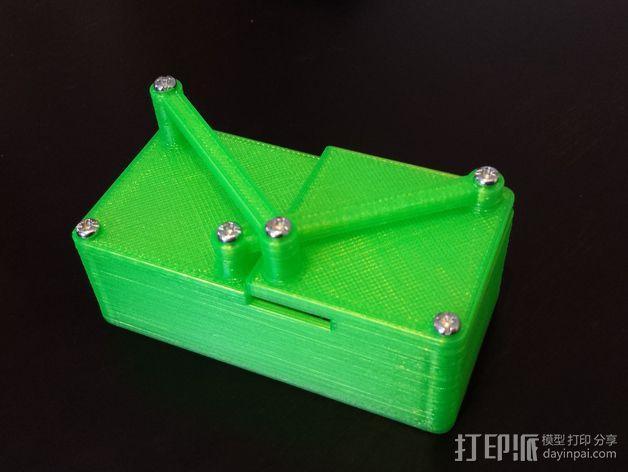 带有旋转盖的硬币盒 3D模型  图3
